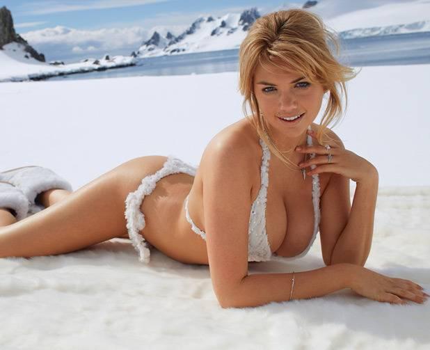 Kate Upton en la Antartida...Suerte la de los pingüinos.